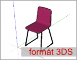 Import 3D objektu ve formátu 3ds do SketchUp-u