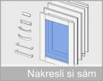 Typy úchytek a dveří, které jsou součástí symbolů skříněk ZDARMA