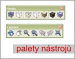 Seznam palet nástrojů pro SketchUp