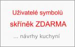 Uživatelé symbolů skříněk zdarma (SSZ) … návrhy kuchyní