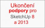 Ukončení podpory pro verze SketchUp 8 a 2013