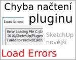 Plugin pro SketchUp Make, chyba: Load Errors – problém s načtením pluginu