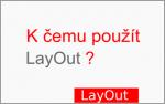 K čemu je vhodné použít LayOut?