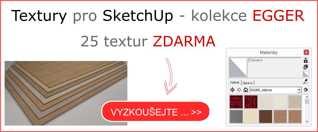 Textury pro SketchUp - kolekce EGGER zdarma