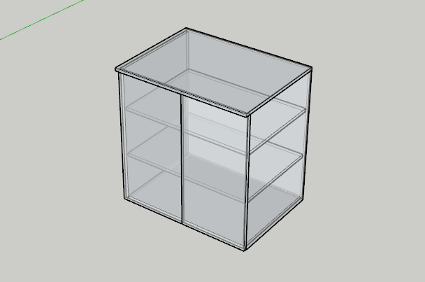 Ukázka skříňky vytvořená pro automatický kusovník
