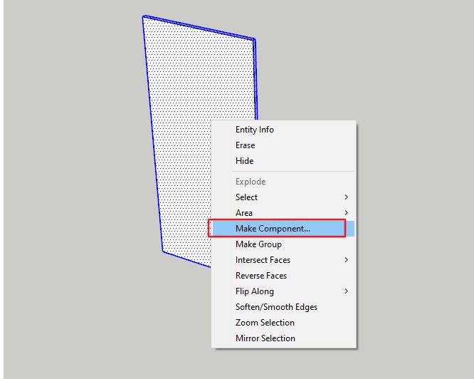 Ukázka jak si vytvořit komponent ve SketchUpu