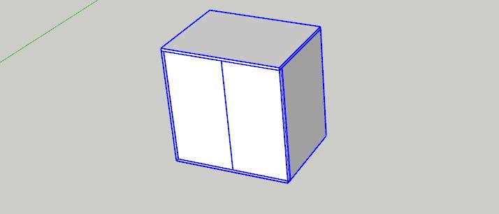 Vybereme skříň které následně nastavíme  materiál