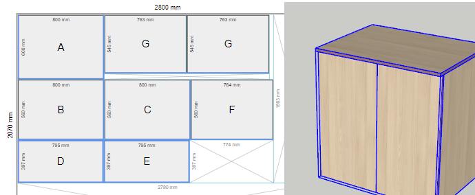 Jak vytvořit nářezový plán ze skříně pomocí pluginu OpenCutList ve SketchUpu.