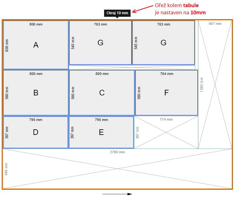 Ukázka nářezového plánu pomocí pluginu OpenCutList - SketchUp
