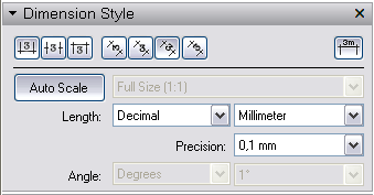 Nastavení kotování jednotlivých rozměrů v programu LayOut.