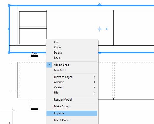 Zrušení propojení modelu ze SketchUpem.